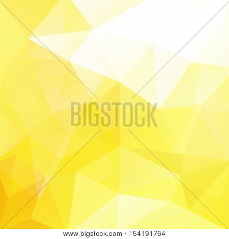 Geometric Pattern, Polygon Triangles Vector Background In Yellow, White Ones. Illustration Pattern