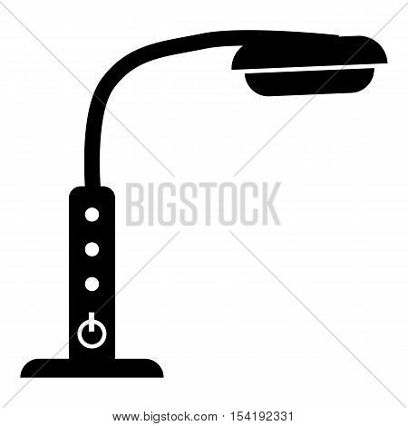 Table lamp with control panel icon. Simple illustration of table lamp with control panel vector icon for web