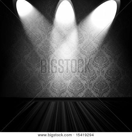 Vintage Room With Spotlights