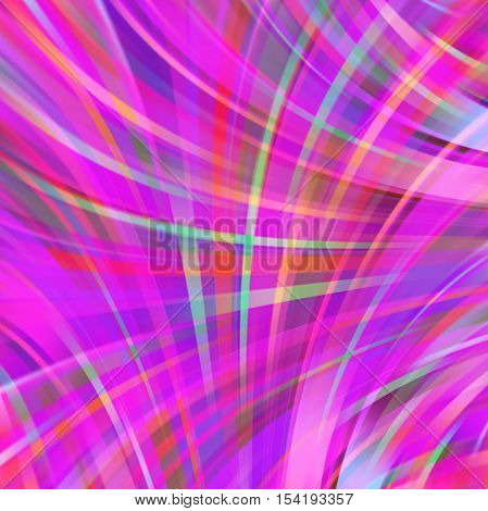 Pink Smooth Light Lines Background. Pink Colors. Vector Illustration