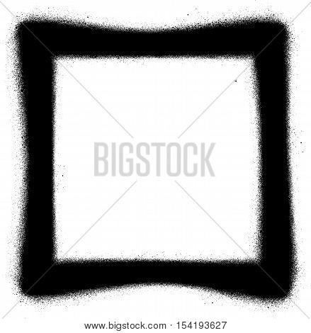 Square Graffiti spray icon in black over white