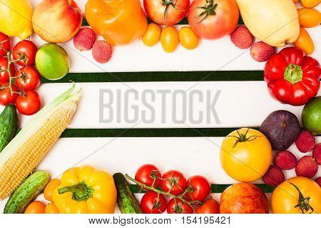 Tomatoes, Corn, Cucumbers, Peppers, Branch, Kumquat, Peach, Nect