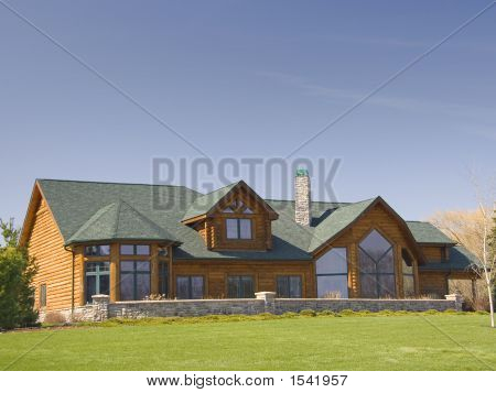 Modern Executive Log Home