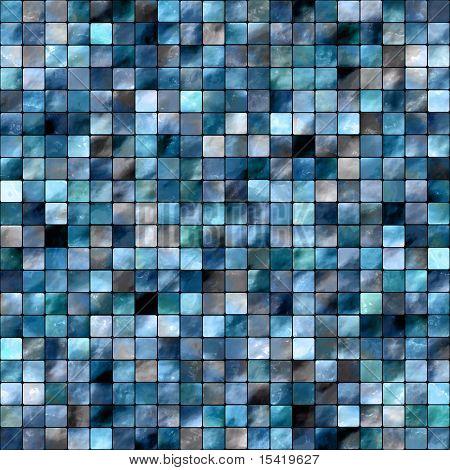 Seamless Blue Tiles Background