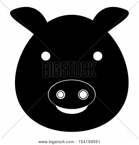 Pig icon. Simple illustration of pig vector icon for web