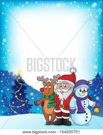 Christmas characters theme image 3 - eps10 vector illustration.