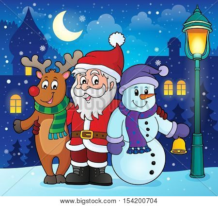 Christmas characters theme image 2 - eps10 vector illustration.