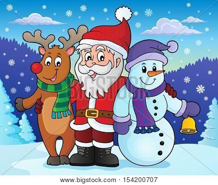 Christmas characters theme image 4 - eps10 vector illustration.