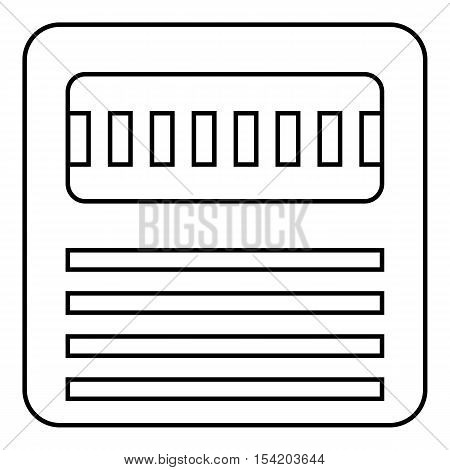 Floppy icon. Outline illustration of floppy vector icon for web