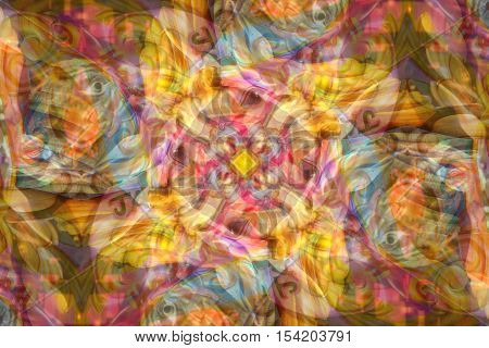 Abstract swirl eyes and fairground background pattern