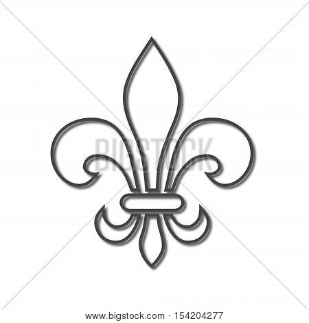 Fleur de lis symbol icon on white background