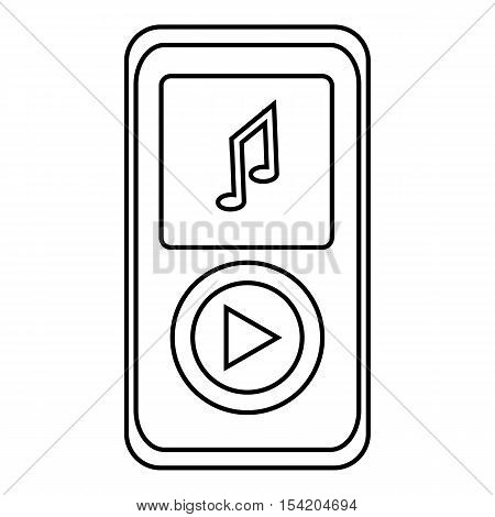 Music player icon. Outline illustration of music player vector icon for web
