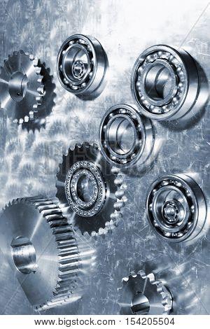 titanium ball-bearings and gears, aerospace engineering parts