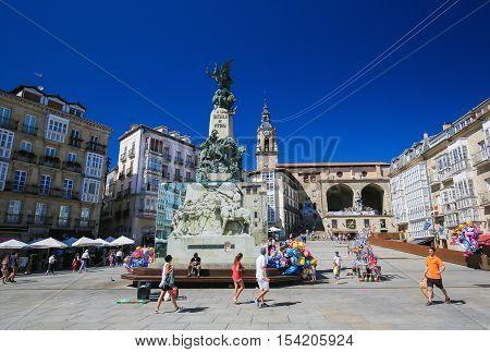 Andre Maria Zuria Square In Vitoria-gasteiz