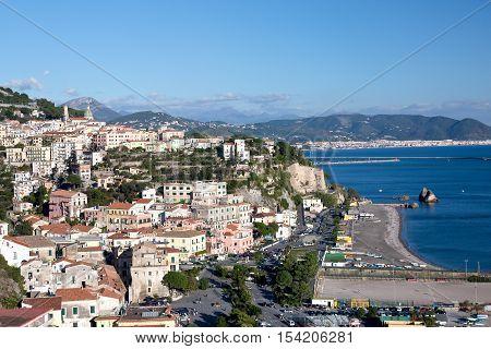 Aerial view of Vietri sul Mare Salerno Italy