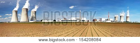 Panoramic view of Nuclear power plant Dukovany - Czech Republic