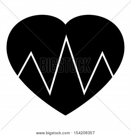 Cardiogram heart icon. Simple illustration of cardiogram heart vector icon for web