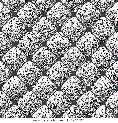 Modern background - seamless can be used for graphic or website layout vector. Seamless Stippling Halftone Gradient Rhombus Pattern. Abstract Geometric Background Design