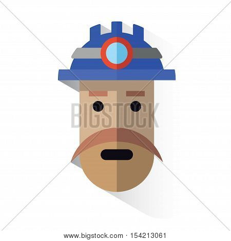 Icon Face Miner With Helmet