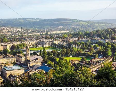 Hdr Aerial View Of Bath