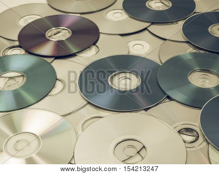 Vintage Looking Cd Dvd Db Bluray Disc