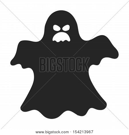 Ghost icon in black style isolated on white background. Black and white magic symbol vector illustration.