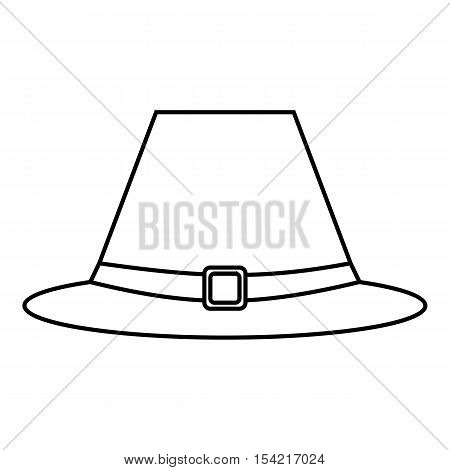 Gentlemans hat icon. Outline illustration of gentlemans hat vector icon for web