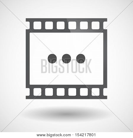 Isolated 35Mm Film Frame Slide Photogram With  An Ellipsis Orthographic Sign
