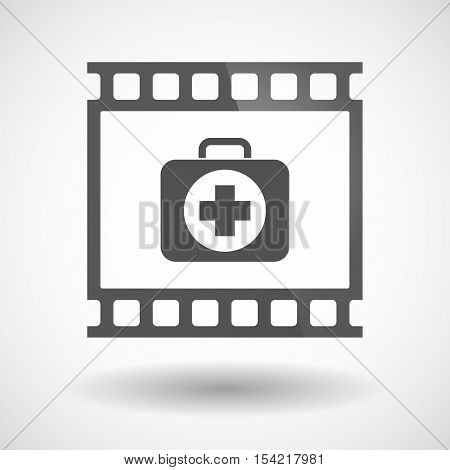 Isolated 35Mm Film Frame Slide Photogram With  A First Aid Kit Icon