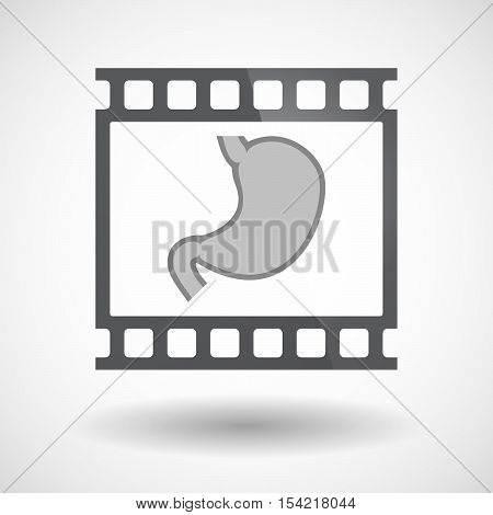 Isolated 35Mm Film Frame Slide Photogram With  A Healthy Human Stomach Icon
