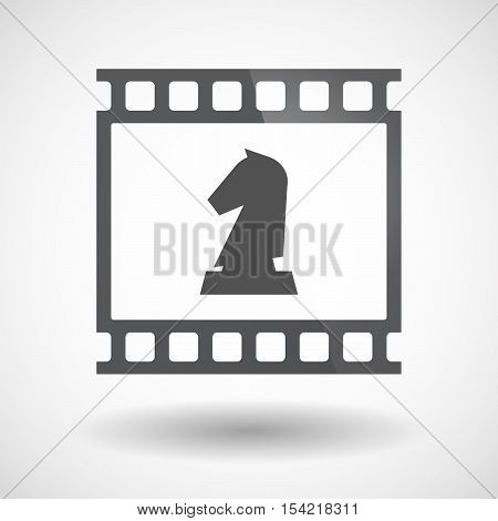Isolated 35Mm Film Frame Slide Photogram With A  Knight   Chess Figure