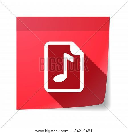 Isolated Sticky Note With  A Music Score Icon