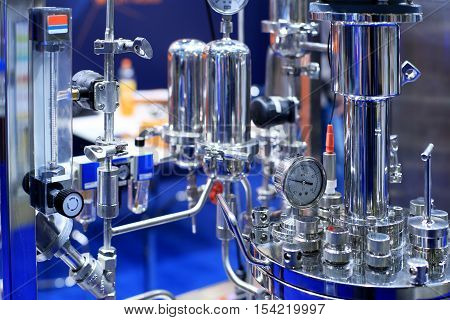 Medical pharmacology laboratory for chemical analysis reactor
