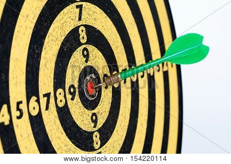 Retro style target darts on white background. success aim, goal concept photo