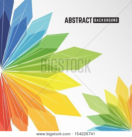 abstract colorful crystal background for leaflet brochure flyer presentation and other design. Vector illustration
