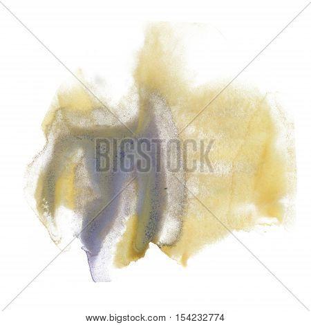 ink splatter watercolour yellow violet dye liquid watercolor macro spot blotch texture isolated on white
