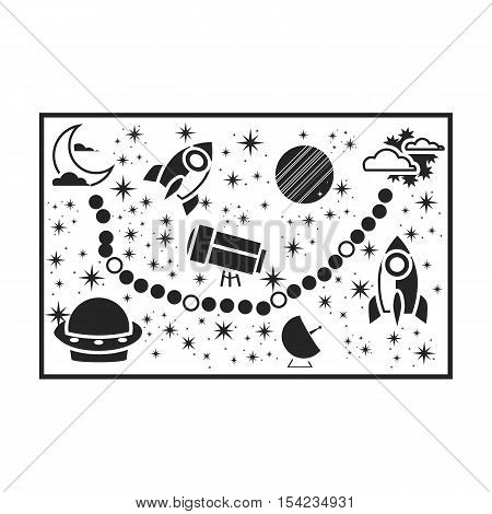 Board game for children icon in black style isolated on white background. Board games symbol vector illustration.