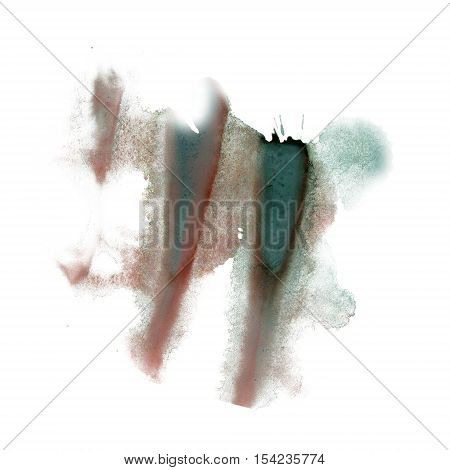 ink splatter watercolour dye liquid watercolor macro spot brown green blotch texture isolated on white