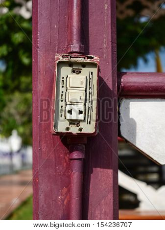 Light Switches and plugs installed unsafe or defective.