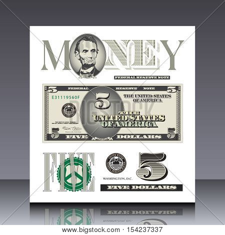 Miscellaneous US bill elements for print or web use