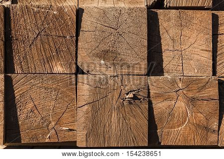 Stacked Wooden Beams, Background