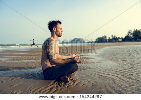 Yoga Meditation Concentration Peaceful Serene Relaxation Concept