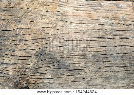 Old cracked wood grain texture background - Stock Photo