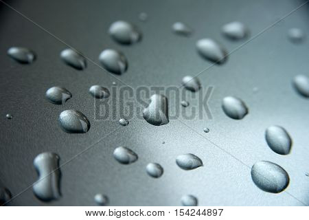 Water drops on metal, background, texture - Stock Photo