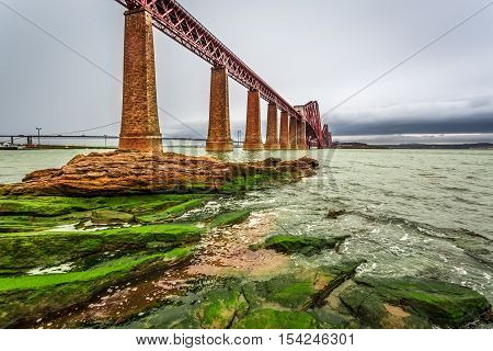 Bridge Firth of Forth in autumn, Scotland