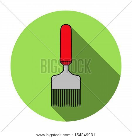 Uncapping fork icon in flat style isolated on white background. Apairy symbol vector illustration