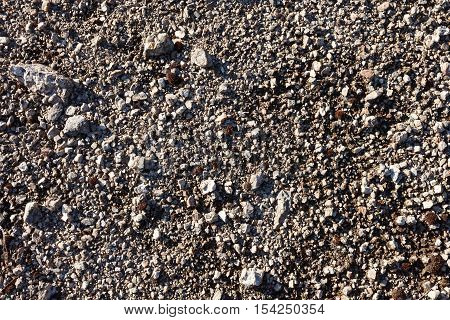 Gravel texture background from mountain scree in Hibini