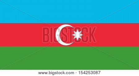 Official vector flag of Azerbaijan . Republic of Azerbaijan .