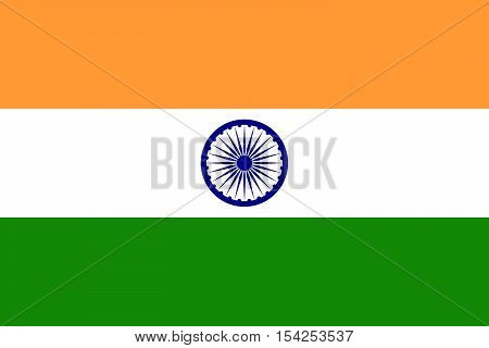 Official vector flag of India . Republic of India .
