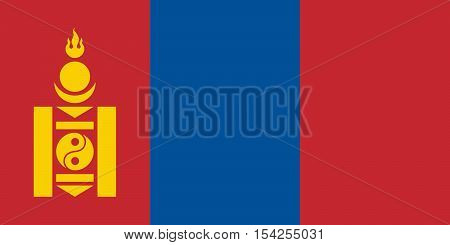 The Official vector flag of Mongolia .